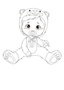 Раскраска Cry Babies Кристал