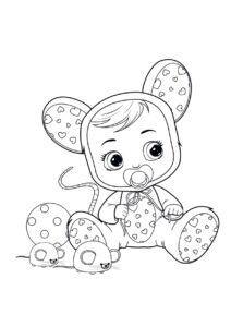 Раскраска Cry Babies Лала мышь