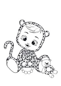 Раскраска Cry Babies Леа леопард