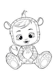 Раскраска Cry Babies Нала тигр