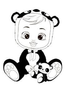 Раскраска Cry Babies Панди панда