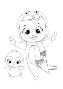 Раскраска Cry Babies Пингвин