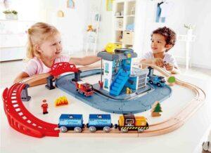 деревянная железная дорога для детей хейп
