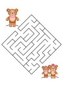 Распечатать лабиринты для детей