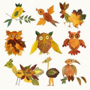 Идеи поделок из листьев для детей