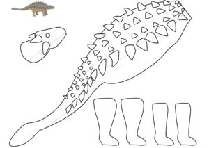 Аппликация из бумаги Динозавры