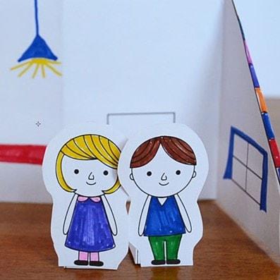 Дом для бумажных кукол