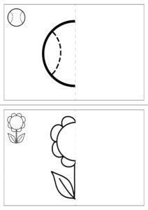 игра-задание дорисуй половину картинки распечатать