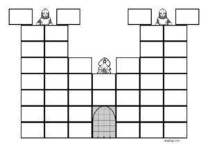 Настольная игра Дракон и замок для детей - распечатать