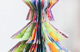 Как сделать елку из журнала своими руками - пошаговое фото