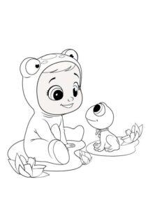 Раскраска Край Бебис Фиби лягушка