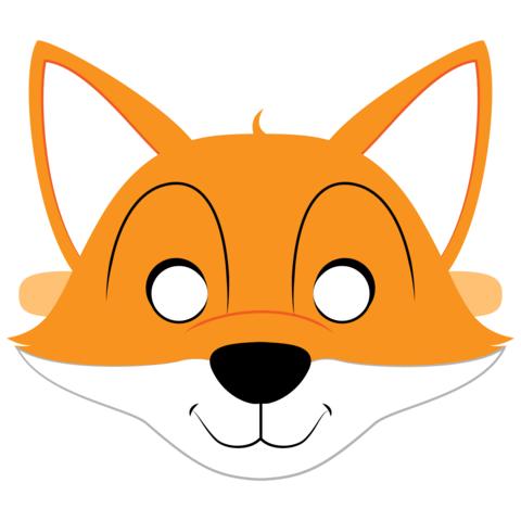 Детская маска лисы распечатать