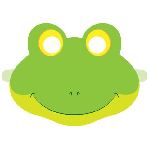 Детская маска лягушки печать