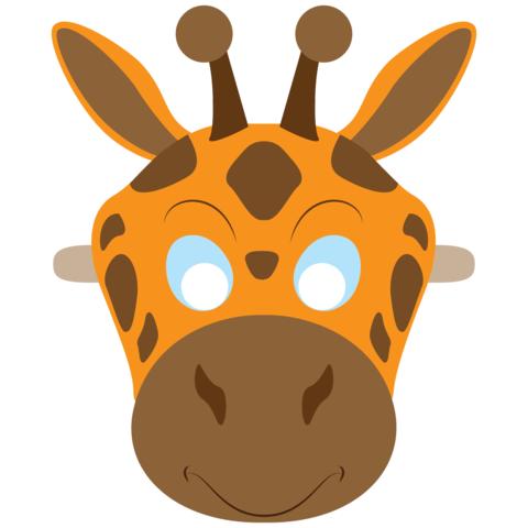 Детская маска жирафа