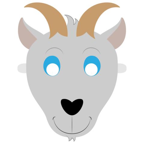 Детская маска козы печать