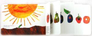 книга для малыша 1 год - очень голодная гусеница
