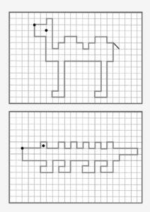 графический диктант наоборот