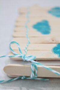 Обложка для записной книжки из палочек от мороженого