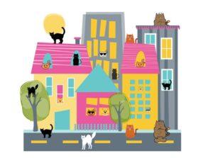 игра для развития речи Кошки