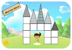 """Игра-головоломка для печати """"Мой прекрасный замок"""""""