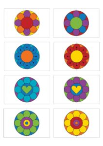 Игра Подбери половинку цветка - распечатать бесплатно