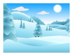 """Игра на употребление предлогов """"Зима"""""""