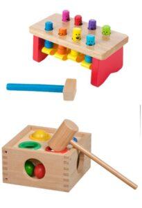 Лучшие игрушки для детей 2-3 лет стучалки с молотком