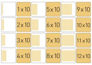 мРаспечатать карточки мемори с умножением