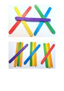 Игры со счетными палочками - узор по образцу