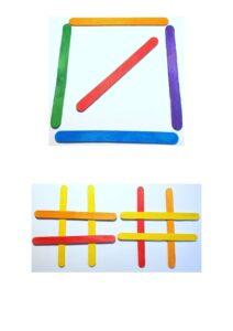 Игры со счетными палочками - распечатать шаблоны бесплатно