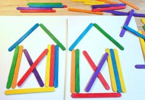 игры со счетными палочками для детей: найди отличие