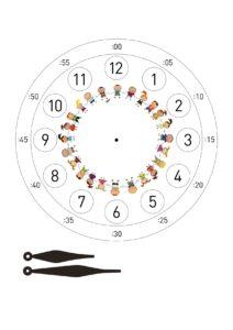 Игрушечные часы со стрелками