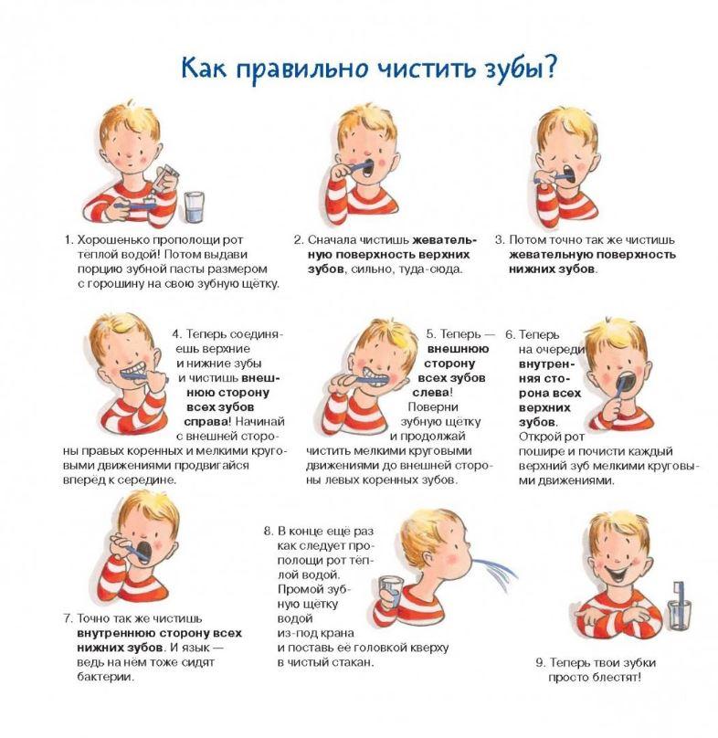 как правильно чистить зубы - книга для детей