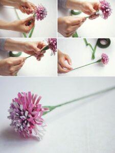 Как сделать цветы из бумаги из газет и журналов