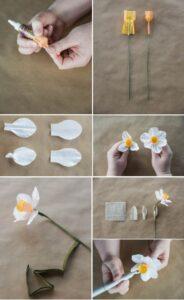 Нарциссы из бумаги своими руками