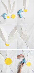 Большие ромашки из бумаги