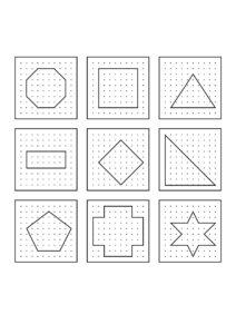 Распечатать готовые схемы-задания для геоборда