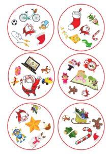 Карточки Доббль Новый год распечатать и играть