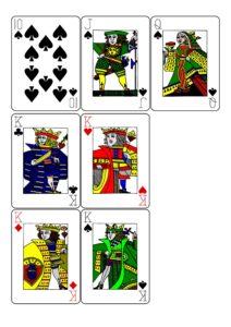Распечатать колоду игральных карт 52 карты