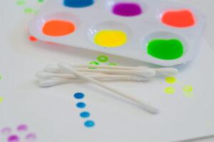 рисование ватными палочками без шаблона