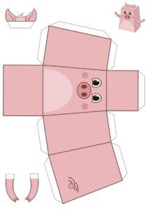 Объемные шаблоны для конструирования из бумаги распечатать