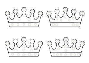 распечатать детские развивашки Королевская корона бесплатно