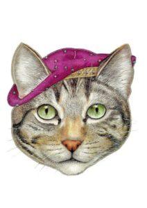 Распечатать маску кошки - шаблон для детей