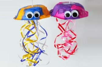 красочная поделка медуза для детей