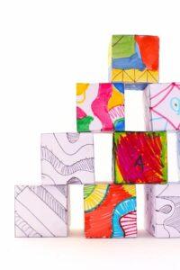 Кубики с бесконечным узором