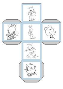 Скачать и распечатать кубики для сторителлинга