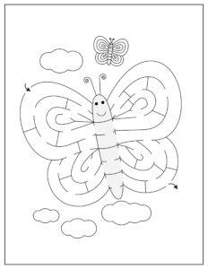 лабиринт бабочка