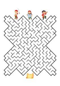 Распечатать лабиринты для детей 5 лет
