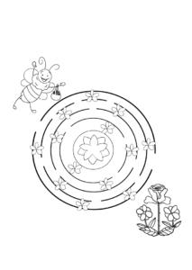 распечатать простые лабиринты для детей