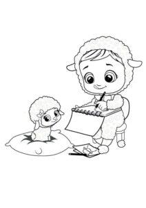 Раскраска Край Бебис Лэмми овечка